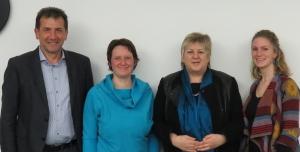 Mitglieder des Vorstandes (von links nach rechts): Reinhard Kirr, Sarah Schulze, Kordula Kovac MdB und Stephanie Dittrich
